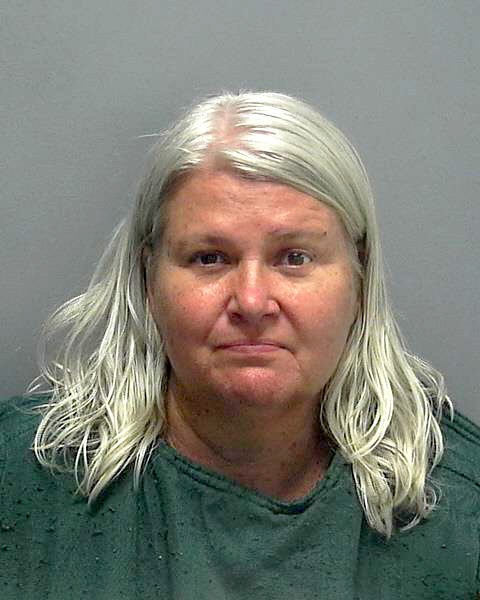 April 28, 2018 courtesy photo of Lois Ann Riess from the Lee County (Fla.) Sheriff's Office. Riess, 56, (DOB 02/28/1962) of Blooming Prairie, Minn., was arrested by federal deputy marshals Thursday, April 19, 2018, at a restaurant in South Padre Island, Texas. Investigators believe she shot her husband, David Riess, 54, who was found dead March 23 at their Minnesota home, then fled to Florida where she used the same gun to slay Pamela Hutchinson, 59, who was found shot to death April 9 in a Fort Myers Beach condo. Investigators believe Riess killed Hutchinson to assume her identity. Riess entered a not guilty plea to a second-degree murder charge Thursday, May 10 in Fort Myers, Florida. Charges in Minnesota are also pending. (Courtesy of the Lee County (Fla.) Sheriff's Office)