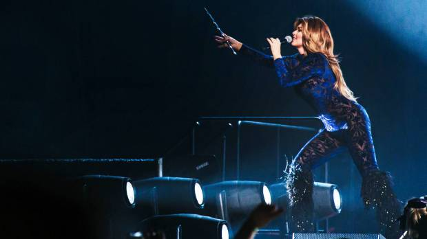 Shania Twain performs on the opening night of her tour, May 3 in Tacoma, Wash. (Courtesy Sunny Martini/Live Nation)