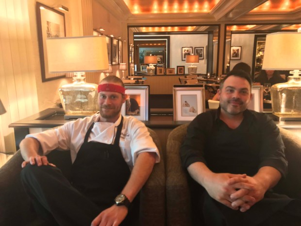 The Commodore Bar and Restaurant executive chef Chas Grant and bar manager Anthony Rios. Photographed May 23, 2018. (Nancy Ngo / Pioneer Press)