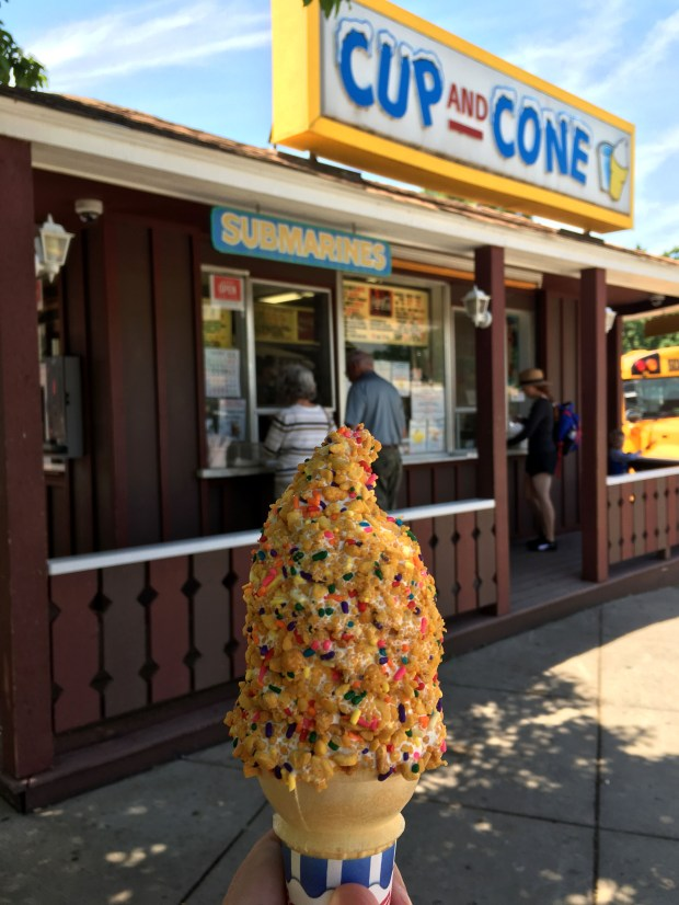 A crunch cone at Cup and Cone in White Bear Lake, shot in June 2018. (Jess Fleming/ Pioneer Press)