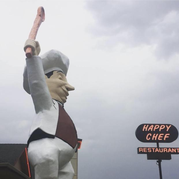 mankato s happy chef statue declines city landmark status but may