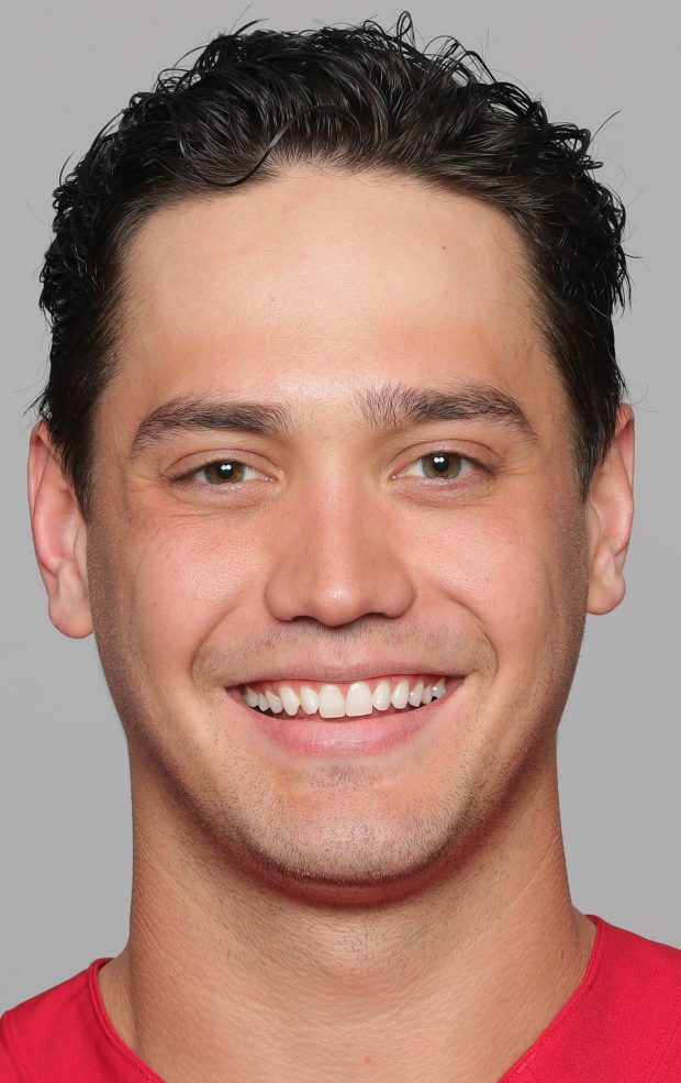 This is a 2018 photo of Cole Hikutini of the San Francisco 49ers NFL football team. This image reflects the San Francisco 49ers active roster as of Wednesday, May 2, 2018 when this image was taken. (AP Photo)