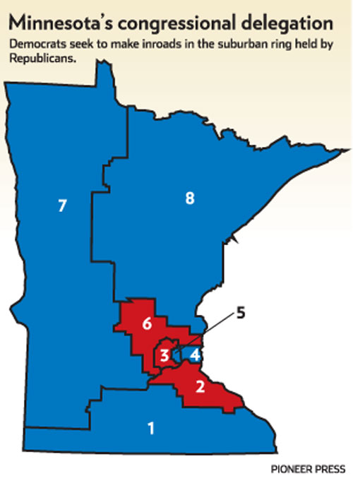 United States congressional delegations from Minnesota