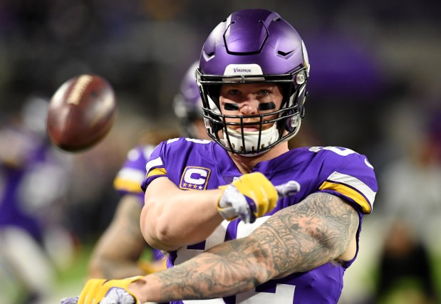 size 40 989ba 2ae6a Charley Walters: Kyle Rudolph's days with Vikings clearly ...