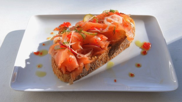 Best St. Paul brunch: Salmon on rye toast at Salty Tart in St. Paul, MN