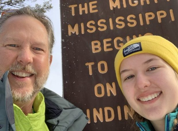 Minnetonka father and daughter team up in attempt at fastest canoe paddle down the Mississippi