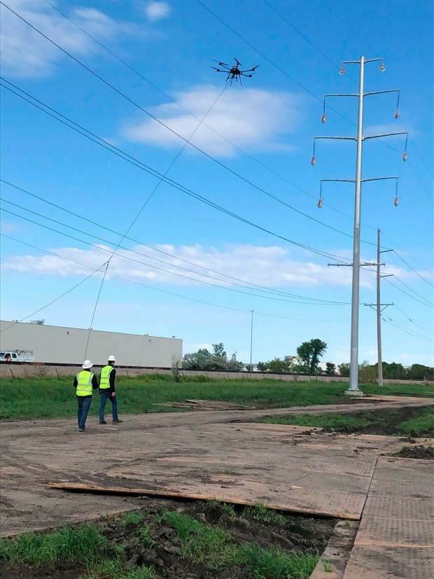 Xcel Energy getting a lift from drones to help build its power lines