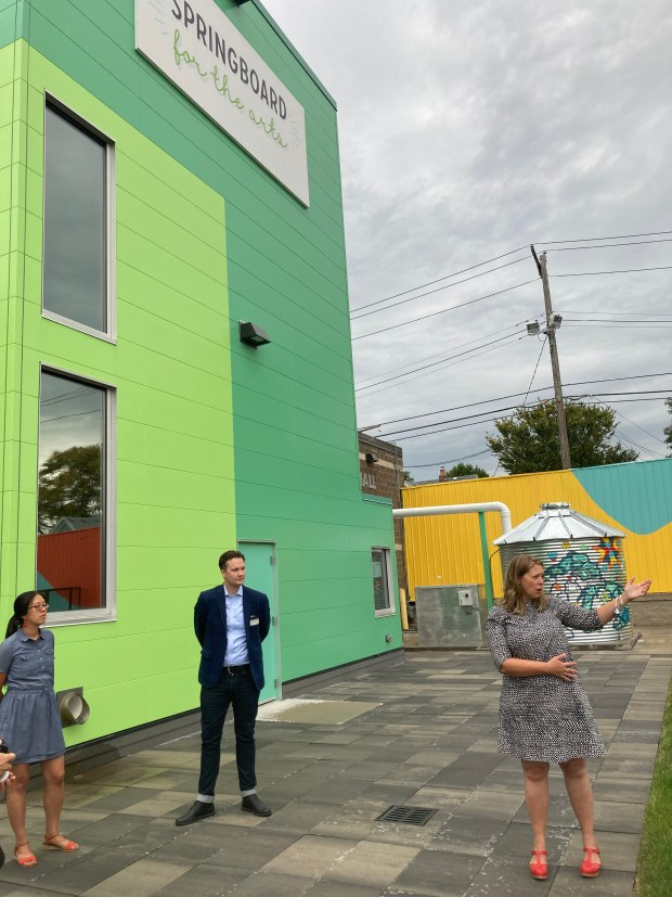 Springboard for the Arts revived to open new home at former used car dealership at University