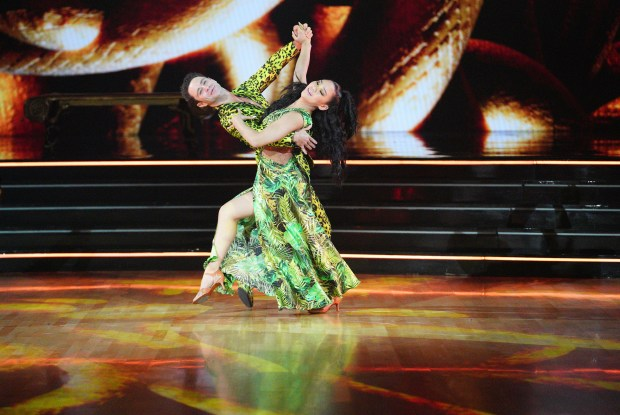 Watch Suni Lee Foxtrot for Britney's 'I'm a Slave 4 U' on 'Dancing With the Stars'