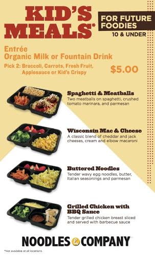 picture regarding Noodles and Company Printable Menu titled Noodles Business enterprise is screening $5.00 Youngsters Food items within Minnesota