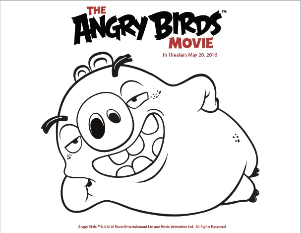 Free Printable Coloring Pages From The Angry Birds Movie