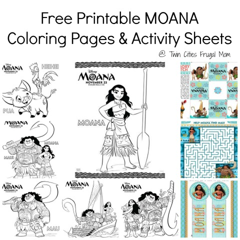photo about Printable Moana called Totally free Printable MOANA Coloring Webpages Sport Sheets - Dual