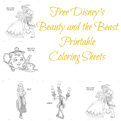 photo regarding Beauty and the Beast Printable Coloring Pages referred to as Free of charge Disneys Elegance and the Beast Printable Coloring Sheets