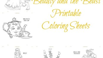 Free Disneys Beauty And The Beast Printable Coloring Sheets