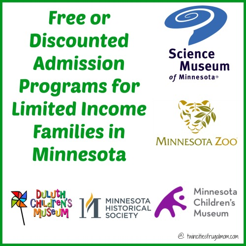 free discounted admission programs minnesota