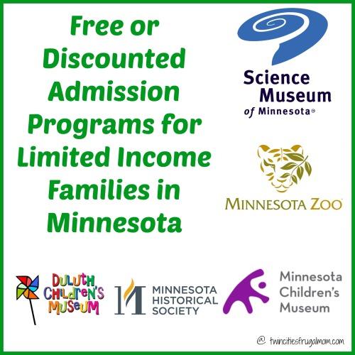 free discounted admission programs minnesota