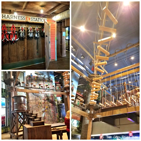 Ropes course at Great Wolf Lodge Bloomington