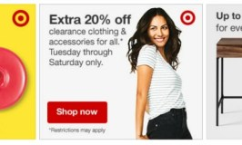 Target Post-Holiday Deals including 20% off Clearance online for REDCard holders (through December 31)