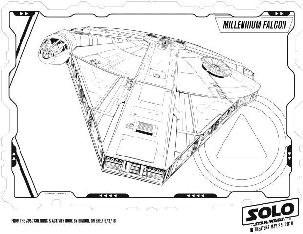 Solo A Star Wars Story Millennium Falcon Coloring Page