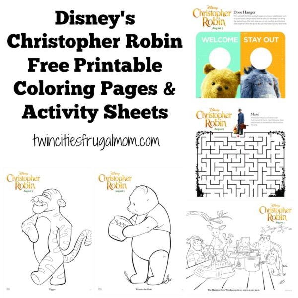 Disney S Christopher Robin Free Printable Coloring Pages Activity