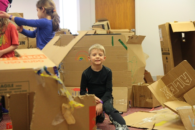 The Works Family Cardboard Building