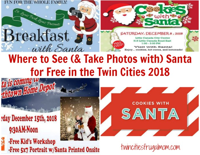 Where To See Take Photos With Santa For Free In The Twin Cities