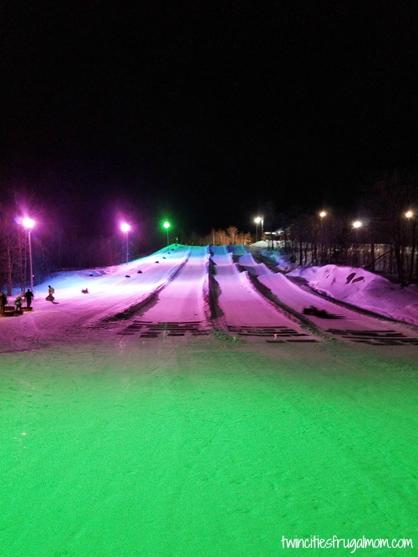 Spirit Mountain Glow Tubing Hill