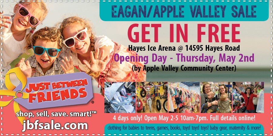 Just Between Friends Eagan Opening Day Coupon