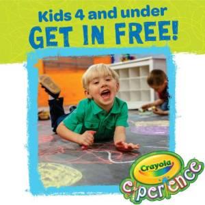 Crayola Experience Free Preschoolers April 2019