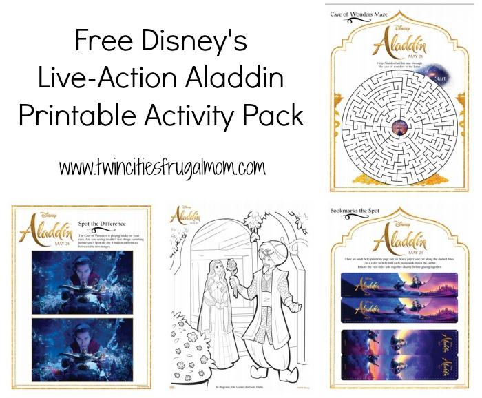 Aladdin Free Printables