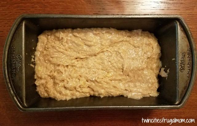 Best Banana Bread Recipe - batter in pan