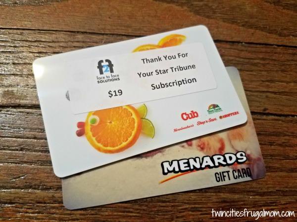 Cub Menards Gift Cards