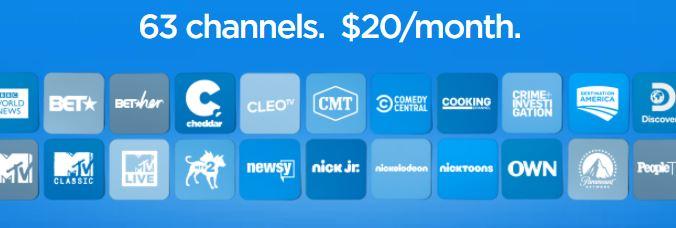 Philo 63 channels
