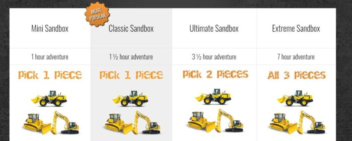 Extreme Sandbox packages