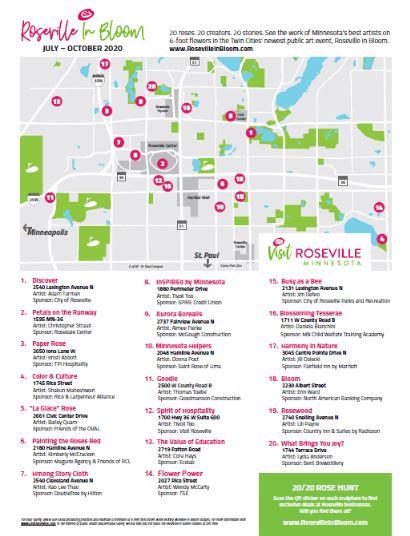 Roseville in Bloom map