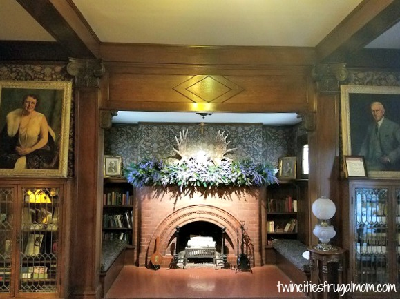 Hormel Historic Home fireplace