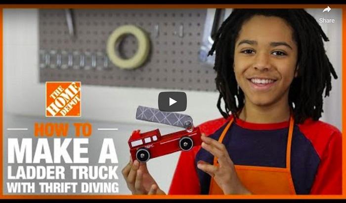 Home Depot Ladder Truck Video
