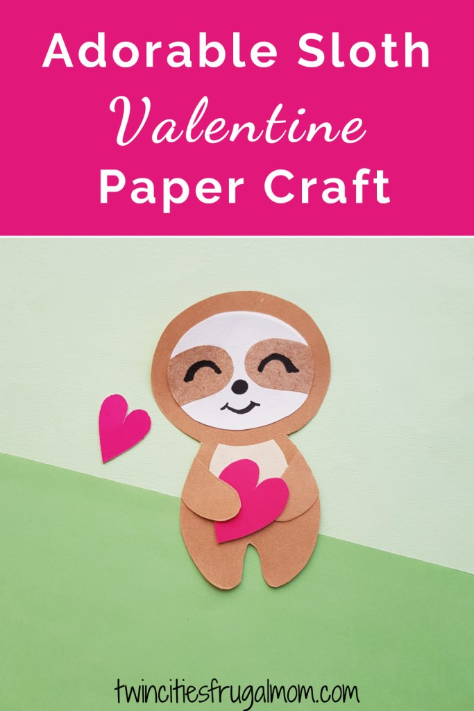 Sloth Valentine Paper Craft Pinterest