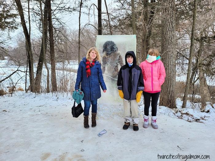 Frozen Caveman Theodore Wirth Park