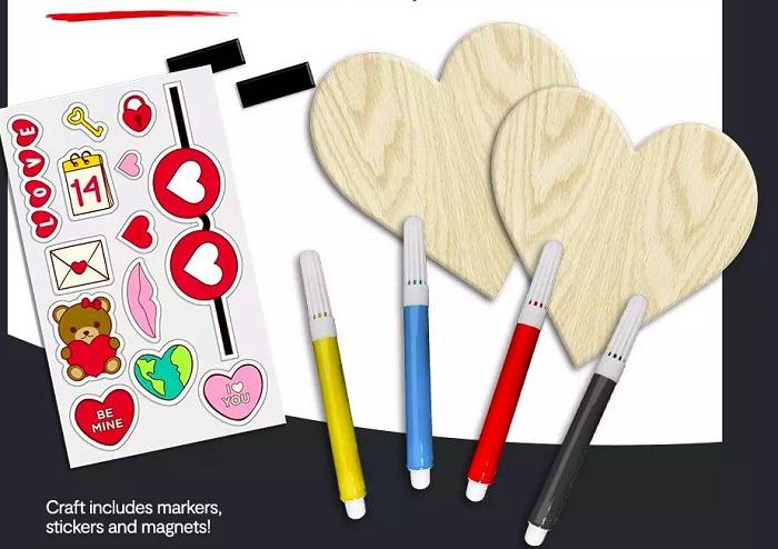 JCPenney free Valentine's craft