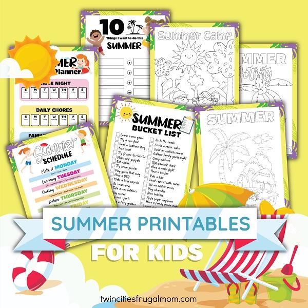 TCFM Summer Printables for Kids