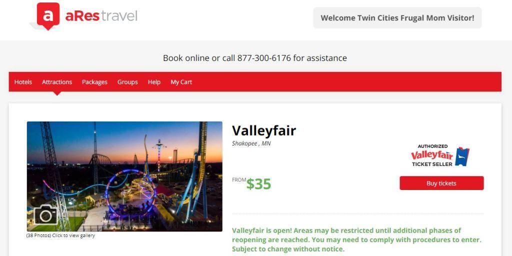 Valleyfair aRes Travel TCFM