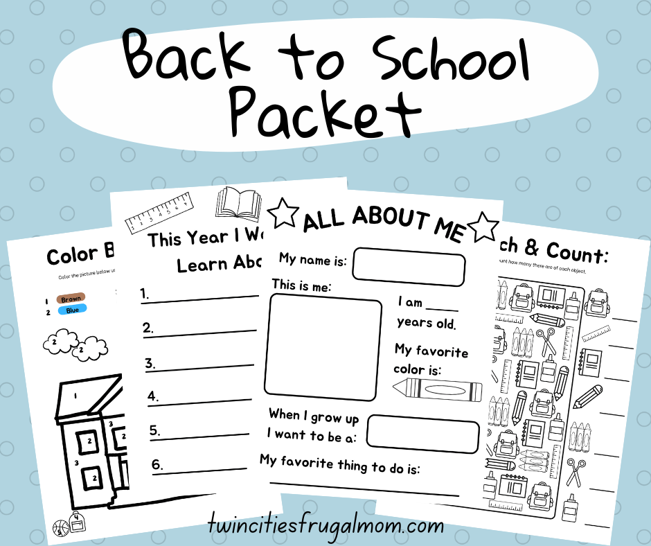 TCFM Back to School Packet