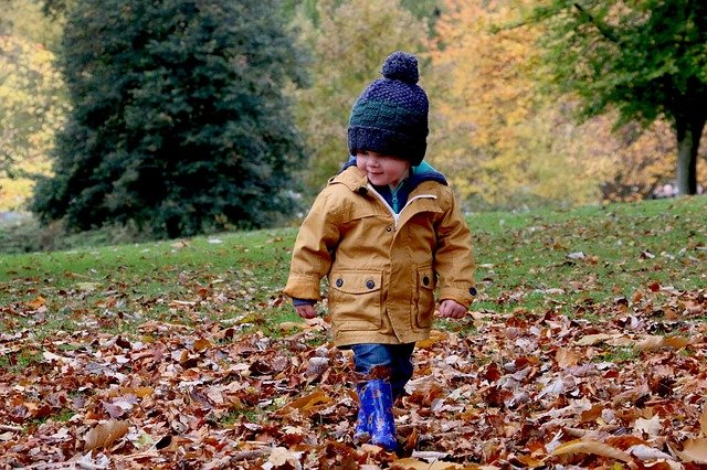 child autumn fall