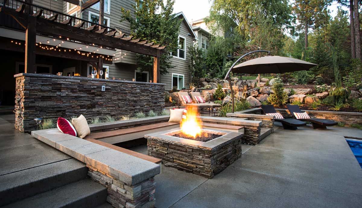 DIY Concrete Patio in 8 Easy Steps | How to pour a cement slab on Backyard Concrete Patio Designs  id=62544