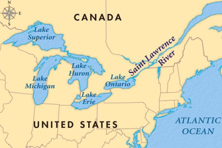 five great lakes canada map » 4K Pictures | 4K Pictures [Full HQ ...