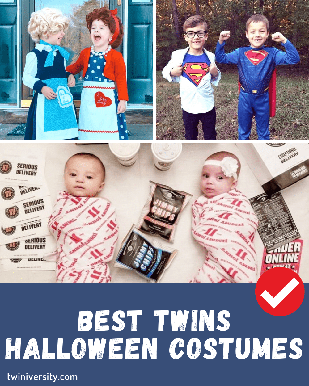 Every year, there's that one superhero film, hit tv show or viral meme that inspires everyone's costume ideas when halloween rolls around. Twin Halloween Costumes That Your Kids Will Love