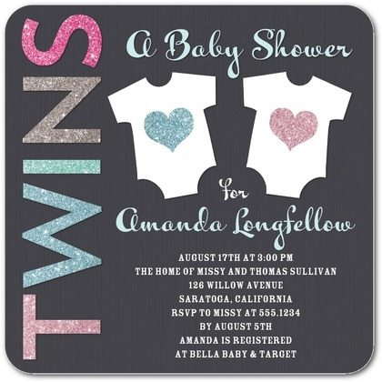 the best twins baby shower invites - twiniversity, Baby shower invitations