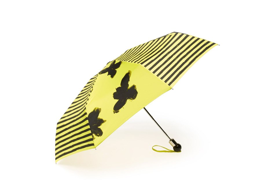 MARC BY MARC JACOBS Grand Painted Flower Umbrella Black Multi or Zest Multi