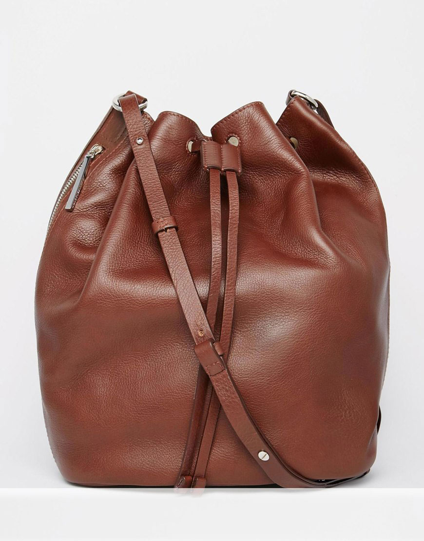 Whistles Leather Bucket Bag